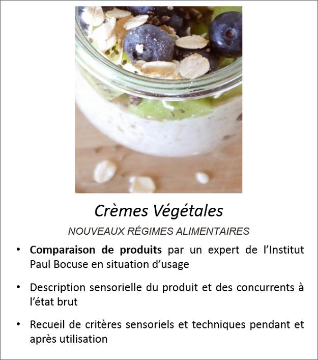 Exemple Crèmes végétales