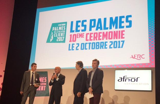 Le Groupe APICIL et l'Institut Paul Bocuse ont reçu le Prix « Coup de cœur » du jury lors de la remise des Palmes de la Relation Client 2017