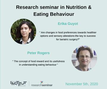 vignette_Nutrition & Eating Behaviour : Séminaire de Recherche - 5 novembre 2020 (P. Rogers & E. Guyot)